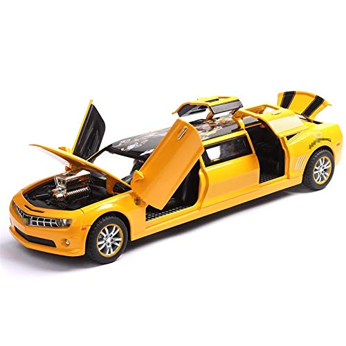 BECCYYLY Diecast Model Car Diecast 1:32 para Chevrolet para Camaro Sound and Light Pull Toy Toys Car Zinc Alloy Alee Car Collection para Regalos Infantiles (Color: Azul) wmpa (Color : Yellow)