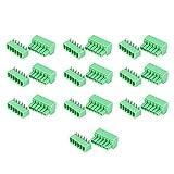 terminali a 6 pin , morsettiera di cablaggio a 300 v , 10 coppie morsettiera a vite a 6 pin , terminali a innesto femmina maschio passo 3.81mm , per elettronica, apparecchiature di comunicazione