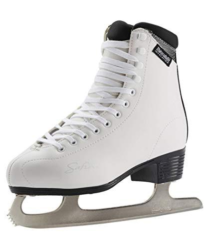 TECNOPRO Damen Eiskunstlauf-Schuh Marina 1.0 Schlittschuhe, weiß/Silber, 38