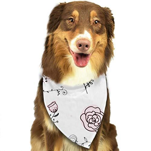 Bandana para Perro Flor Belleza Botánica, Pañuelos para Perro, Reversibles, Ajustables, Triangulares, Bufandas para Mascotas y Gatos, Regalos Cumpleanos