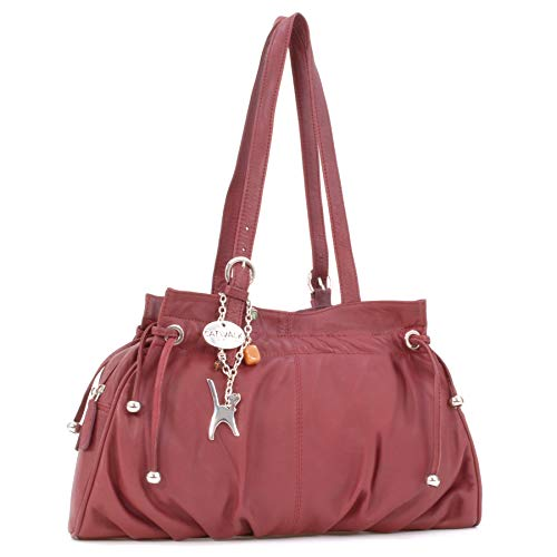 Catwalk Collection Handbags - Leder - Umhängetasche/Schultertasche - ALICE - Rot