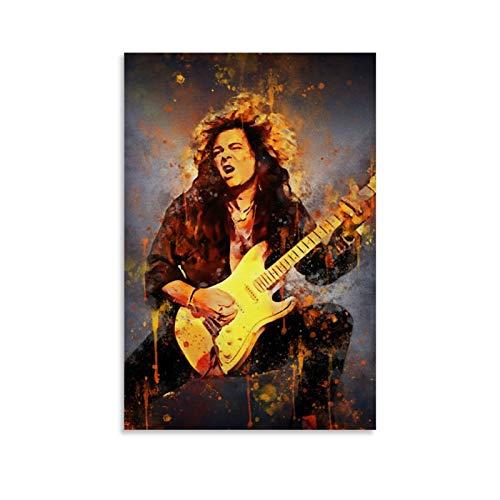 NQSB Yngwie Johann Malmsteen 80er Jahre Gitarristen Leinwand-Kunst-Poster & Wand-Kunstdruck, modernes Familienschlafzimmerdekor-Poster, 30 x 45 cm
