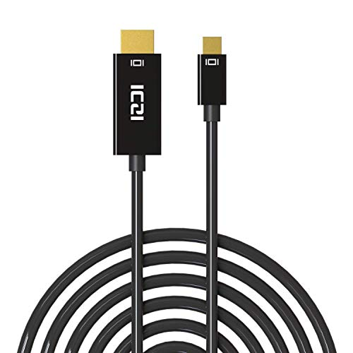 ICZI Mini DisplayPort to HDMI, Thunderbolt to HDMI (Mini DP) Adapter Cable, Gold-Plated, 10 Feet / 3 M (Renewed)