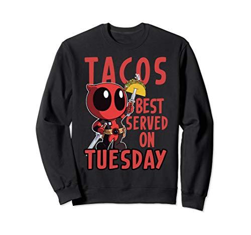 Marvel Deadpool Tacos Best Served On Tuesday Sweatshirt