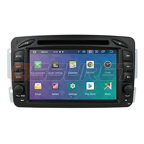 Ossuret Android 10 Car Stereo Radio GPS Navigation con Pantalla táctil de 7 Pulgadas Apta para Mercedes-Benz C-W209 / C-W203 / Viano/Vito/Vaneo/A-W168 Soporte de Control del Volante