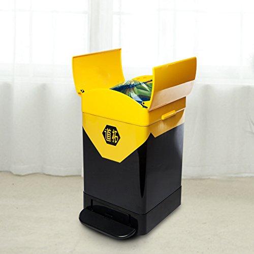 Bote de basura casero La basura industrial creativa del pedal, tapa abierta...
