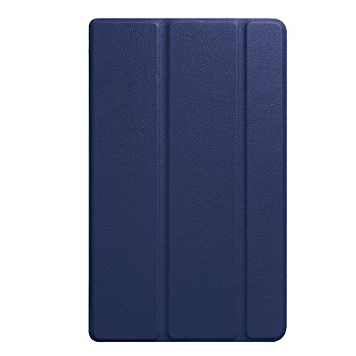 Lobwerk Schutzhülle für Amazon Fire HD 8 (2016/2017/2018) 8 Zoll Tablet Hülle Flip Case mit Auto Sleep/Wake Blau