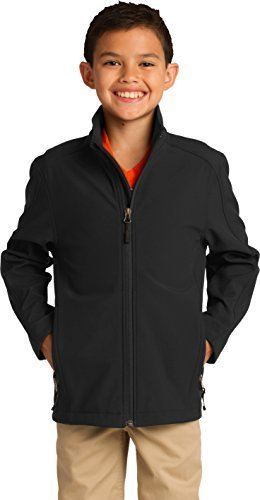 Port Authority Boys' Core Soft Shell Jacket L Black by Port Authority