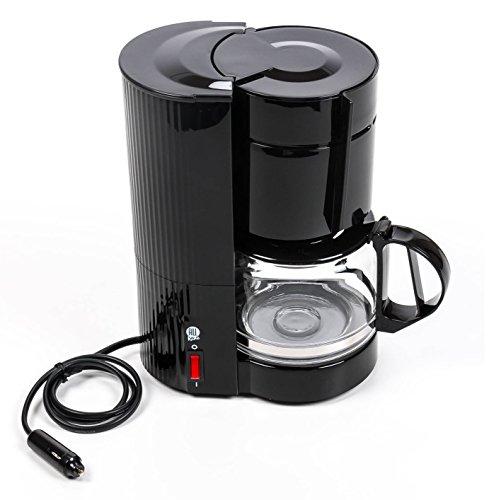 Kaffeemaschine 24 Volt 300 Watt, mit Glaskanne für 10-12 Tassen, Filterkaffeemaschine für LKW