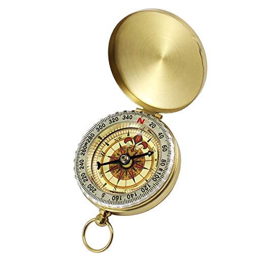 ExeQianming Kompass Retro-Survival-Ausrüstung für Militär, Camping, Wandern, Reiten, Werkzeuge (Metall)