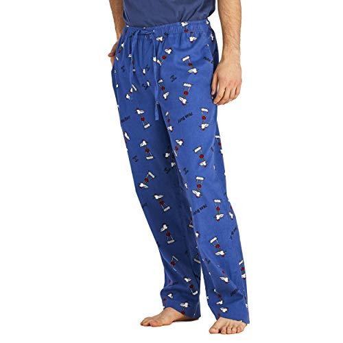 Life is Good. Mens Sleep Pants Gull Print, Vintage Blue-XL