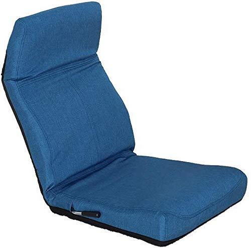 BEVANNJJ ZYY Tatami Sofá Carro Plegable Lazy cojín de la Silla del Ordenador compartida Mirador del sillón Cama Volver Sofá Silla cómoda (Carga: 100 kg) (Color: Gris, tamaño: 57 * 51 * 11 cm)