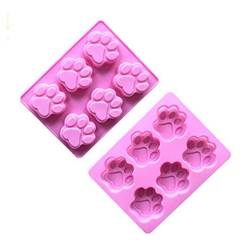 石鹸作り用品 チョコレートシリコーン金型手作り石鹸作りツールキャットフィートパターンケーキ無毒の石鹸金型6キャビティ手作りアクセサリー ソープベース (Color : Style 1)