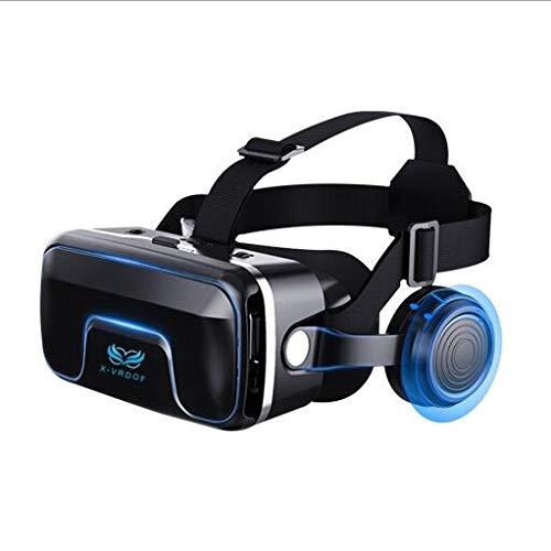 3D Gafas VR de Realidad Virtual, VR Gafas 3D de Realidad Virtual para Juegos de Realidad Virtual y películas en 3D para iPh X/7/6s 6/Plus, Galaxy s8/ s7con Pantalla de 4,7 a 6,3 Pulgadas