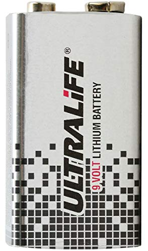 Ultralife U9VL Lithium Batterie 9 V, E-Block (U9VL, U9VL-J, 1,2Ah)