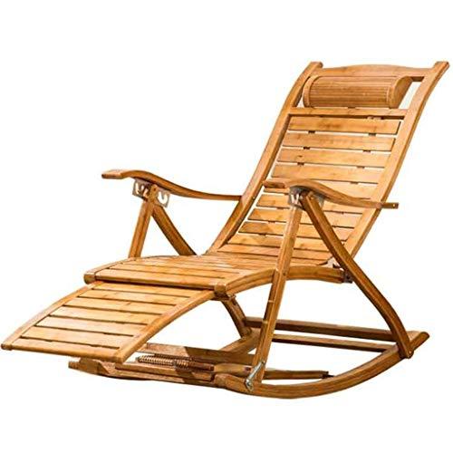 WJJJ Klapp Schaukelstuhl Relax Chair Sessel Verstellbarer Stuhl Schaukelstuhl für ältere Menschen Stuhl mit Fußstütze