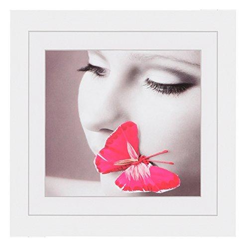IDEAL Style Bilderrahmen in 30x30 40x40 50x50 cm 5 Farben quadratisch Rahmen: Farbe: Weiß | Format: 40x40