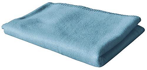 KiGATEX Polar-Fleecedecke in vielen Farben 130x160 cm pflegeleicht für Innen oder Außen (blau)