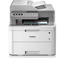 Brother DCP-L3550CDW Kompaktes 3-in-1 Farb-Multifunktionsgerät, weiß