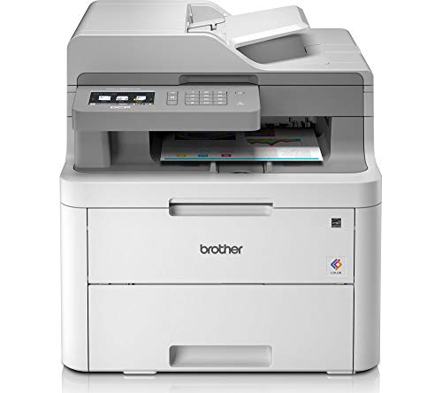 Brother DCP-L3550CDW Kompaktes 3-in-1 Farb-Multifunktionsgerät, weiß