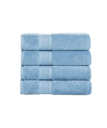 TRIDENT Juego Toallas de baño - Soft & Plush - 100% algodón, 500 gsm, 4 Pieza Juego Toallas de...