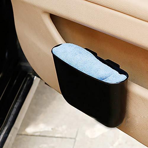 Kleine Auto-Mülltonne, Aufbewahrungsbox (Farbe: schwarz), Doppelnutzungsbox, leicht zu reinigendes Kunststoffmaterial, tragbarer Mülleimer, Hängende Aufbewahrungsbox, kann am Auto installiert werden