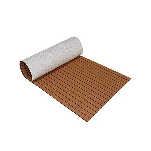 TiooDre Holzimitat Bodenbelag Eva Anti-Feuchtigkeit Anti-Rutsch-Teppich Anti-UV-Korrosionsbeständige Faux Teak Decking Sheet Dekorative Matte für Yacht RV Boote Kajaks, 240 * 17 mm