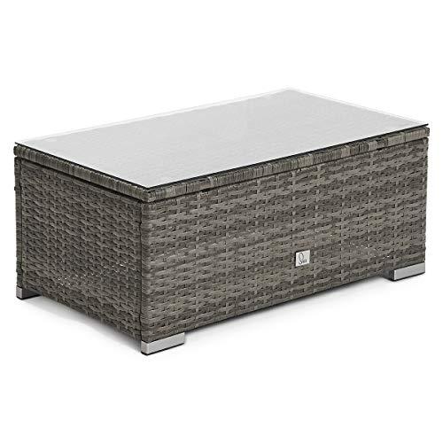 SVITA Queens 2020 Poly Rattan Sitzgruppe Couch-Set Ecksofa Sofa-Garnitur Gartenmöbel Lounge Schwarz, Grau oder Braun (Grau) - 4