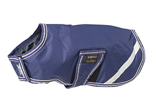 Horseware Amigo Hundedecke, wasserfest, XXXS, Atlantikblau/elfenbeinfarben