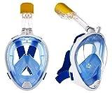 Sisliya Adult Kids Full Face Snorkel Mask Snorkeling Set Diving Goggles for Swim(Full Snorkel Snorkel Mask)