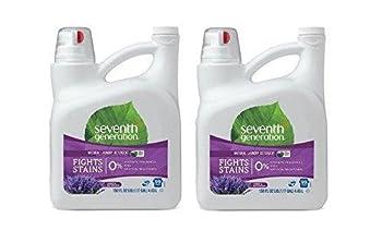 Seventh Generation - Laundry Detergent 2X Ultra Concentrate Blue Eucalyptus & Lavender - 150 oz  2 Pack