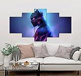 GSDFSD 5 Panneaux 5D Film de Science-Fiction léopard Super héros Affiche des Photos Impressions Décoration D'intérieur pour Chambre d'enfant, 40x100cmx1pcs, 40x80cmx2pcs,40x60cmx2pcsa sans Cadre