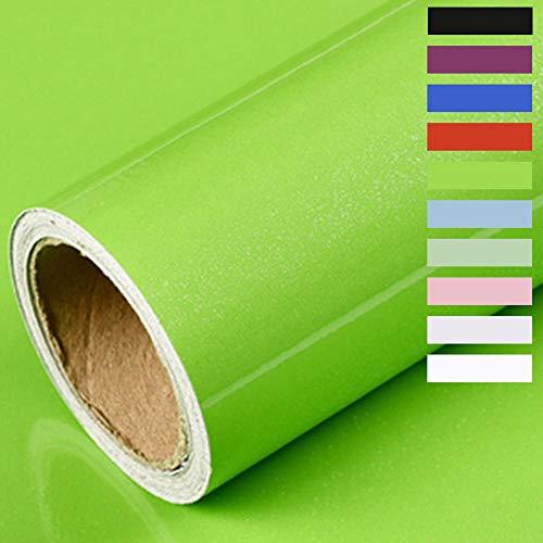 Möbelfolie Selbstklebende Folie Klebefolie für Möbel Küche Tür Wand Oberflächenschutz küchenfolie für küchenschrank Wasserdicht Vinyl Aufkleber Hochglanz Mit Glitzer 60cmX500cm (Dunkelgrün)
