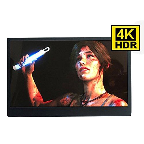 HHHYa 13.3インチ 4K IPS HDR機能を支持 モバイルモニター PS4/xbox360 対応 液晶パネル ゲーミングモニタ...