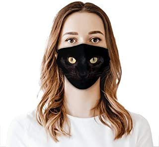 Black Cat Face Shield Mouthcloth Face Scarf Mask Men Women Washable Anti-Dust Unisex