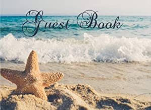 Guest Book: Nautical/ Waves/ Starfish Guest Book, Paperback Visitors Book, Guest Comments, Vacation Home Guestbook, Beach House, Visitor Comments, Holiday