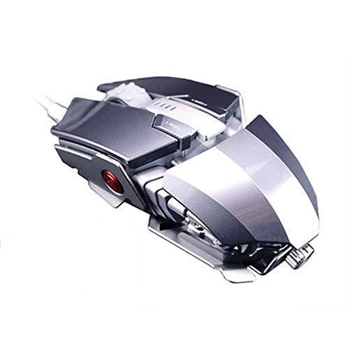 Game muis esports spel macro definitie metalen mechanische muis size Grijs
