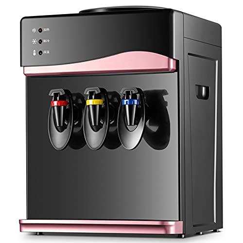 Dispensador de Agua con Agua Fría y Caliente Del Grifo Máquina de Agua de Pie,Alta Capacidad, Oficinas y Salas de Reuniones,Rosado