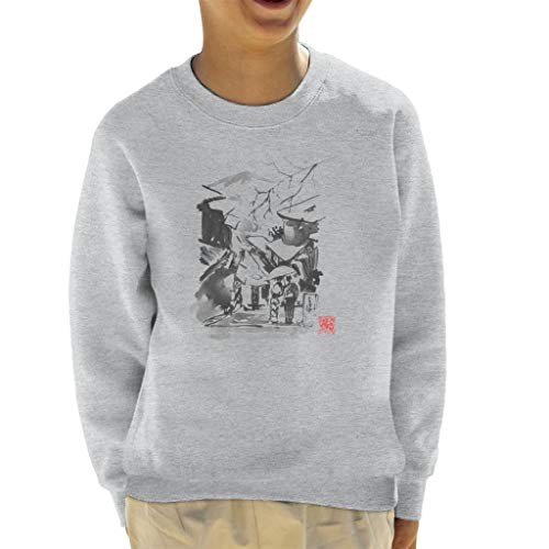 Cloud City 7 Mount Fuji Paraplu Sweatshirt voor kinderen