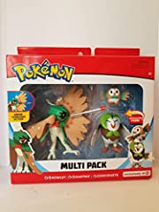 Set Includes Rowlet, Dartrix and Decidueye Approx 1', 3' and 5' figures are ready for battle! Ages 4+