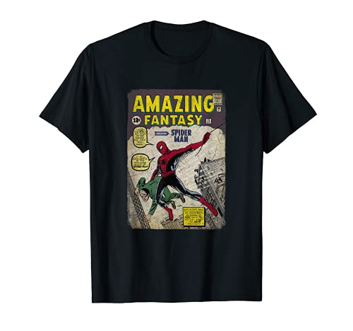 Marvel Spider-Man Comic Book Cover Print Graphic T-Shirt