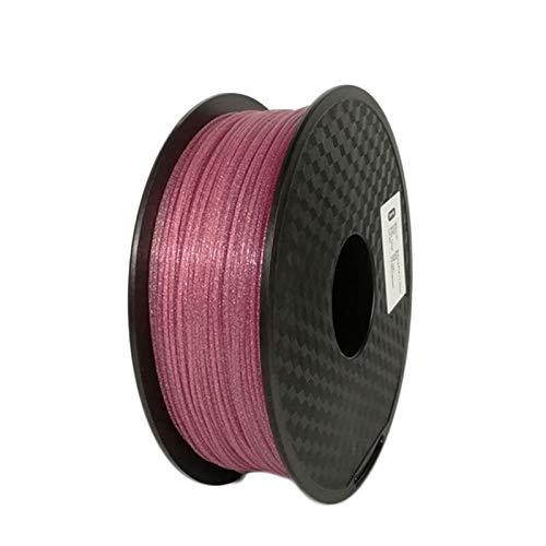 QINGRUI Matériaux d'imprimante Topzeal 3D imprimante Brillant Filament de PLA 1kg (2.2Lbs) 1.75mm +/- 0.03mm, Brillant Brillant Noir Bleu Rose Or Argent Argent Facile à façonner (Color : Pink)