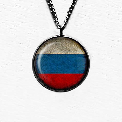 Russia Russian Россия Russland Russisch Flagge Anhänger und Halskette