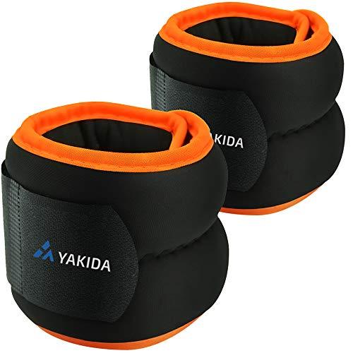 【2021最新版】YAKIDA アンクルウェイト リストウエイト 手首 足首 重り 在宅筋トレ ウオーキング ダイエット ウェイト 体幹トレーニング パワーアンクル リストバンド 男女兼用0.5kg 1kg 2kg 3kg×2個セット