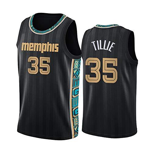 Z/A Memphis Grizzlies Killian Tillie # 35 Ropa De Baloncesto Jersey Men's Sportswear Entrenamiento Deportivo Sudadera Suelta Chaleco De Manga Corta Top Camiseta,M