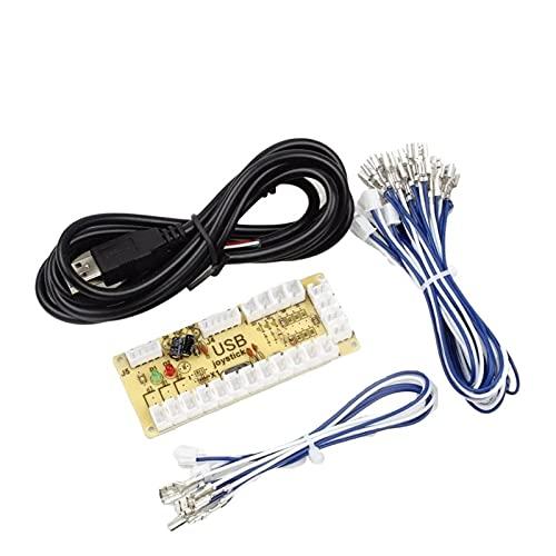 TX GIRL Zero Ritardo Encoder USB al Controller PC 2 Pin Joystick Cable & Happ Push Buttons Cables for Mame Games Arcade APPRESSI APPRESSIONI DIY Kit Parti (Size : 2 Pin Joystick)