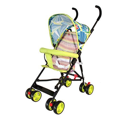 N/ A Landau et Poussette pour Tout-Petits Chariot bébé léger et Portable Absorbant Les Chocs 0-3 Ans Bleu Rouge Vert Violet(Couleur:Vert)