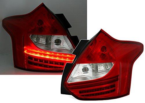 AD Tuning DEPO LED Rückleuchten Set Klarglas Rot Weiß Heckleuchten Rücklichter