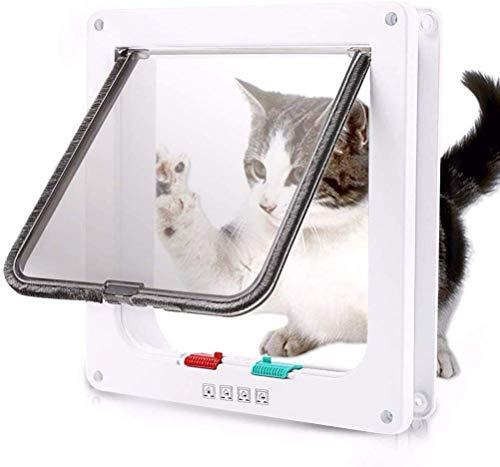 Pet Deur kattenluik Door 4 Way Locking Magnetic Pet Gate Kit met liner Tunnel In And Out Safe Easy Install (Maat: S) 8bayfa (Size : L)