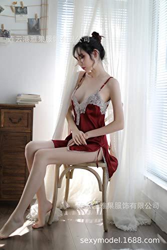 Dames Erotische Lingerie Sets Erotische Kleding Dames sexy sling multi-color korte rok pyjama thuis nachtelijke rok kant zoete sexy lingerie set